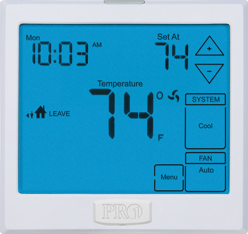 PRO1 IAQ T955WH TOUCHSCREEN THERMOSTAT W/HUMIDITY CONTROL