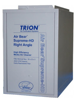 TRION MEDIA AIR BEAR RIGHT ANGLE MERV 8 GRAY